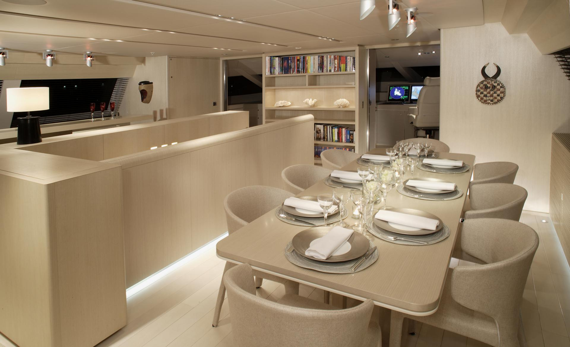 Red Dragon Yacht Dining Area
