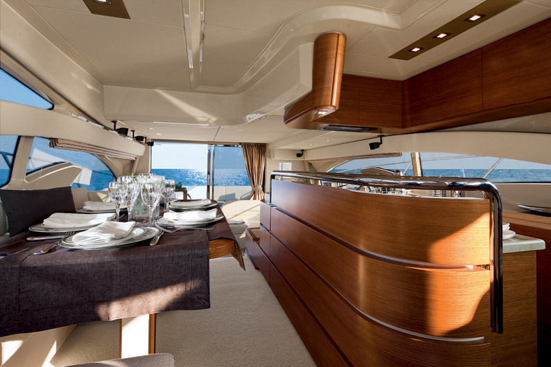 Azimut 60 Flybridge Yacht Galley