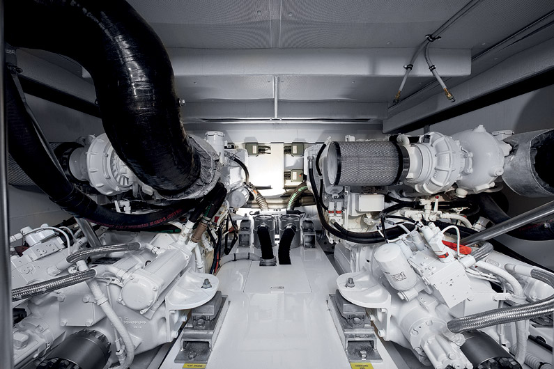 Azimut 60 Flybridge Yacht Engine Room