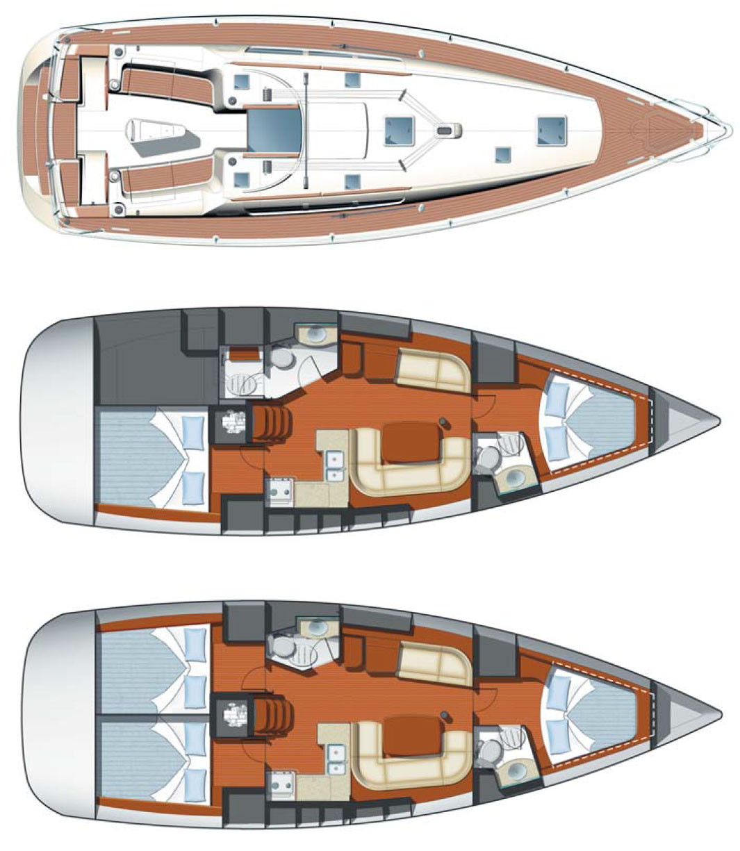 Jeanneau 42i for sale layout