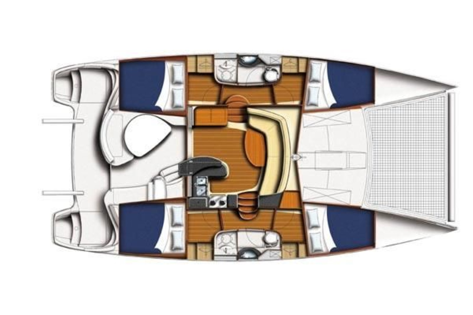 Leopard 40 Catamaran Layout