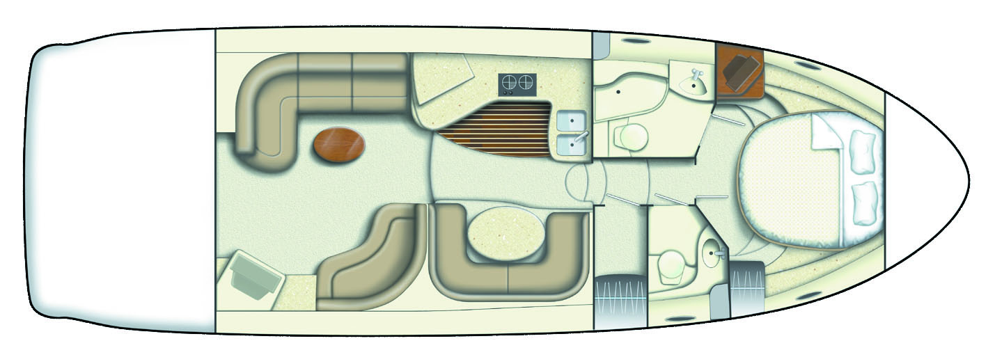 Meridian 411 Yacht Layout