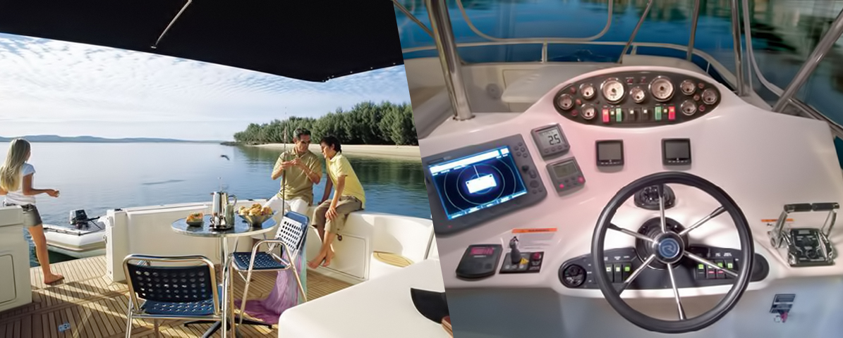 Riviera 47 Open Flybridge Accomodations