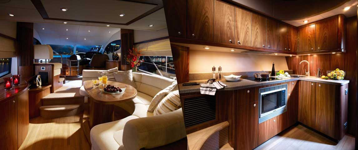 2009 Sunseeker Manhattan 52 interior salon