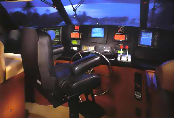 VIking 65 Enclosed Flybridge Helm