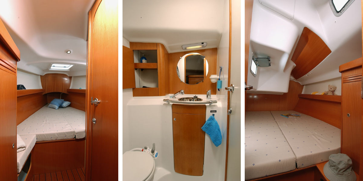Beneteau First 40.7 Interior Cabins