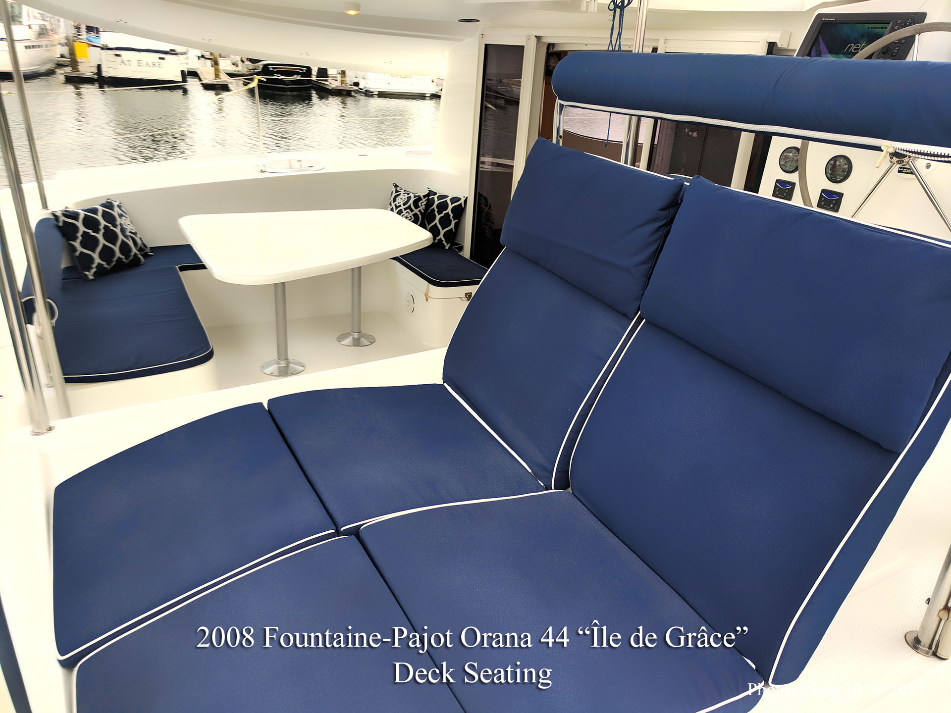Fountaine Pajot Catamaran deck chairs