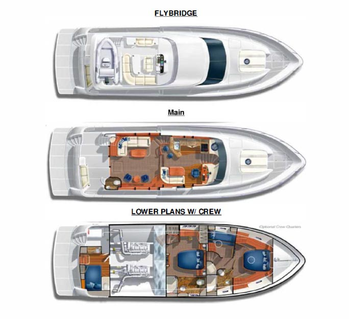 Mckinna 60 Pilothouse layout