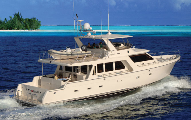 Offshore 72 Pilothouse Running