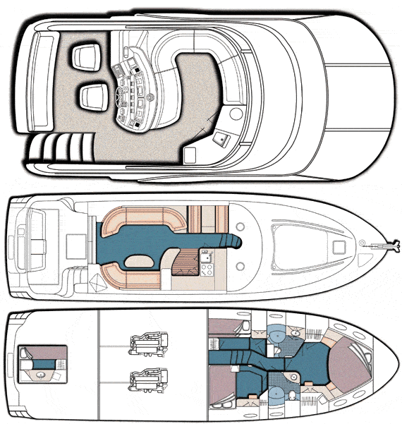 2001 Sea Ray 560 Sedan Bridge Layout