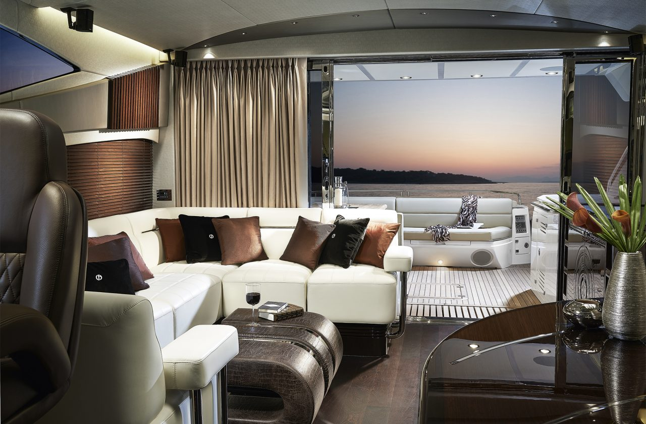 Sunseeker 68 Sport Yacht Interior Salon