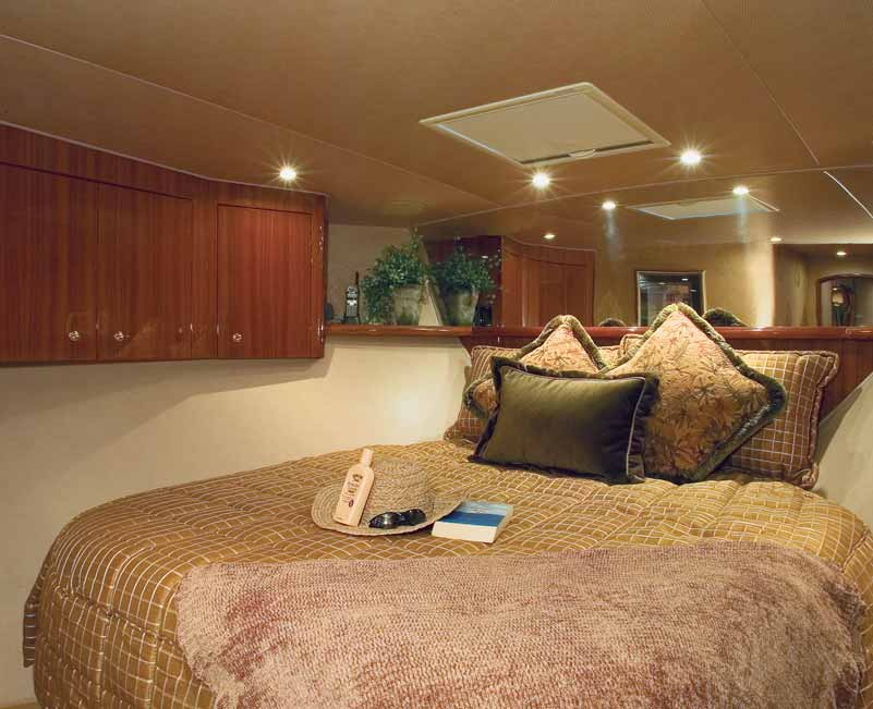 68 Viking Enclosed Flybridge Forward Stateroom
